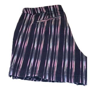 Merona - purple striped shorts, size 12